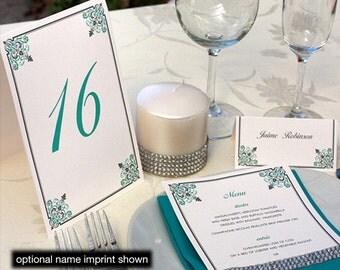 Filigree Menu, Table Marker & Place Card Set