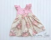 Baby Girls Dress, Little Girls Dress, Flutter Sleeve Girls Dress, Baby Flutter Dress, Fall Girls Dresses, Little Girls Dresses, Baby Dresses