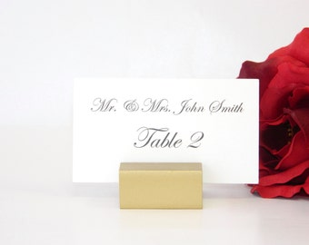 Place Card Holder + Gold Place Card Holder (Set of 100)