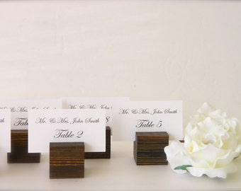 Wedding Place Card Holder + Rustic wedding place card holders