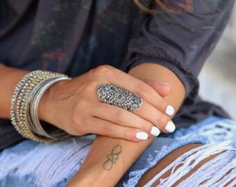 Chunky Boho Ring, Chunky Boho Jewelry, Sterling Silver Wide Rings, Wide Boho Ring, Boho Jewelry Chunky Ring, Bohemian Ring, Boho Silver Ring