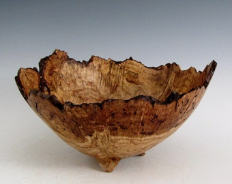 Rustic Oak Burl Wood Turned Bowl - Housewarming Gift - Wedding Gift- Hand Made Wood Bowl - Artistic Wood Bowl - Wooden Bowl