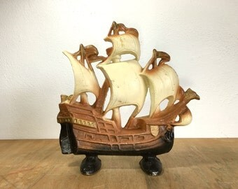 SALE Cast Iron Ship Doorstop