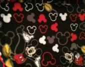 Fleece Black/Red Blanket with Mickey Mouse Print