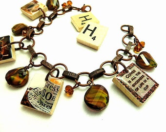 Java Repurposed Scrabble Tile Bracelet