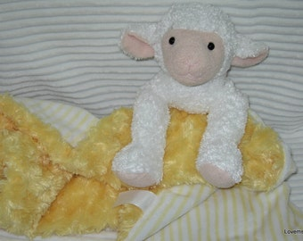 Security Blanket, baby blanket, luvi, lovie - lamb lovems