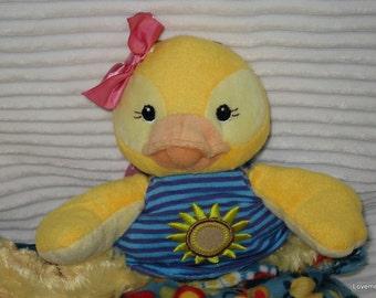 Security Blanket, baby blanket, luvi, lovie - duck lovems