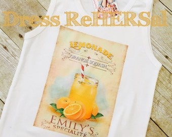 Custom Lemonade stand t shirt with your childs name  18 24 2 3 4 5 6 7 8 9 10