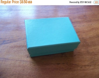 Christmas in July 20 Pack of 2.5X1.5X1 Inch Size Teal Cotton Filled Jewelry Gift Merchandise Boxes