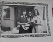 Vintage Three Girls High School Photograph
