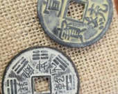 Large Vintage Look Chinese Coins