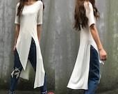 Kinfolk - idea2lifestyle zen layered tunic dress / boho extravegant dress/ asymmetrical boho tunic (Q1712X)