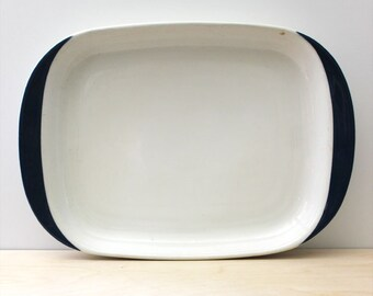 Arabia Finland large blue and white platter.