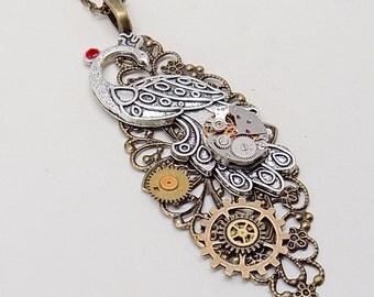 Steampunk jewelry. Steampunk  necklace pendant.