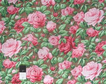 Verna Mosquera PWVM113 Snapshot Rose Garden Sepia Cotton Fabric 1 Yd
