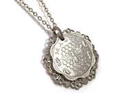 RESERVED custom listing for Stephanie SALE 35% OFF Malta coin necklace with bee and honeycomb