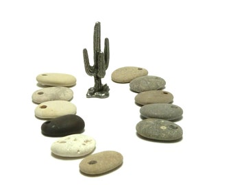 Beach Stone Taper Charms Pebbles River Rocks Beachstone Focal Jewelry Pendant Dangles Tear Drop Collection OUTBACK