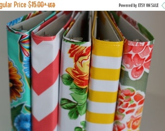 BINDER COVER SALE budget binder - binder cover - planner binder - a5 planner - oilcloth 3-ring binder cover - birthday gift - gift for her -