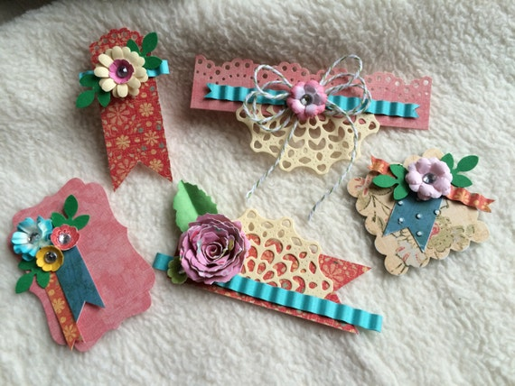 scrapbook embellishments5 piece set of very cute and