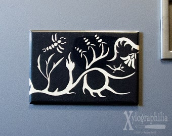 Flora & Fauna art magnet Number 4