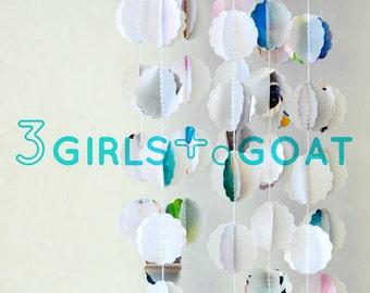 Gelati Pastel Bauble Garland | Paper Decoration | Stitched Paper Garland | Contemporary Decor | Gift for Her under 25
