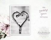 Heart | Symbol and Spacers | 4x6 Individual Photo for Wedding Date, Milestones, Paper Anniversary | HEART