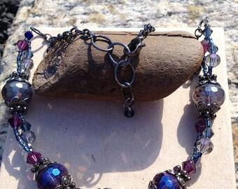 Blue/Purple Adjustable Necklace (Short)