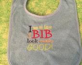 Baby Boy Machine Embroidered Bib - I make this bib look really good
