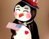 The Pot n' Penguin patriotic penguin