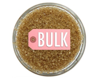 Gold Sanding Sugar BULK (1lb) - metallic gold fine sugar for decorating cupcakes, cakes, cakepops, and cookies.