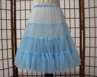 Petticoat Sky Blue Chiffon -- Custom Order