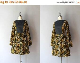 STOREWIDE SALE 1970s Dress / Vintage 70s Batik Mini Dress / 1960s Kimono Sleeve Cotton Dress