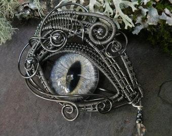 Gothic Steampunk Soft Grey Eye with Tear