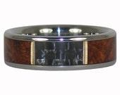 Amboyna Wood and Black Carbon Fiber Ring