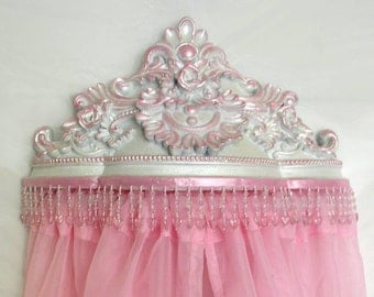 Bed canopy crown, FREE sheers