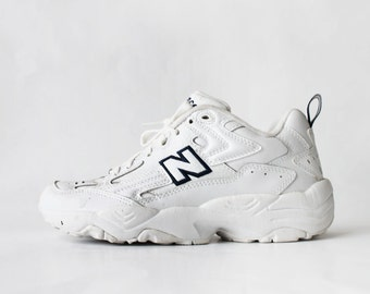 1990's New Balance 606 White Leather Sneakers