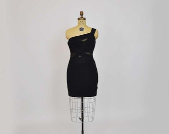 80s dress / Addicted to Love Vintage 1980's Tadashi Bandage Dress