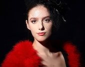 Promo Sale Red Marabou Shrug / Valentine's Day Gift/  sizes XS- 2X / also available in 22 different colors