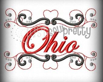 Ohio Pride Embroidery Design