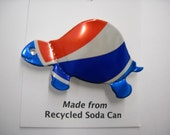 Magnetic Pepsi Turtle Recycled Can