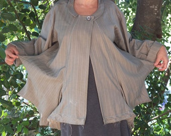 Light Starfish Jacket - Grey Wool Suiting +- made by Kathrin Kneidl for resplendent Rags