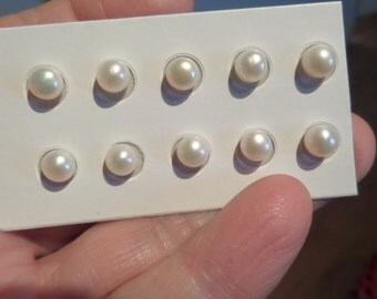 6mm Pearls Half Drilled-Parcel of 10