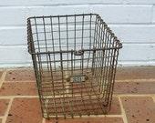 Vintage Metal Gym Basket Vintage Locker Basket Kaspar Wire Works