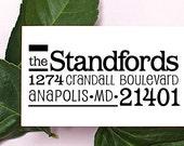 Self Inking Address Stamp, Address Stamp, Custom Address Stamp, Return Address Stamp, Personalized Gift, Wooden Rubber Stamp - 1044