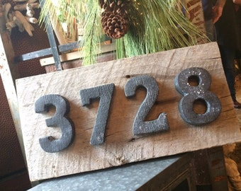 Urban/Rustic house numbers  4 numerals