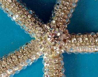 "XL Jeweled Real Starfish 6 1/2-7"""