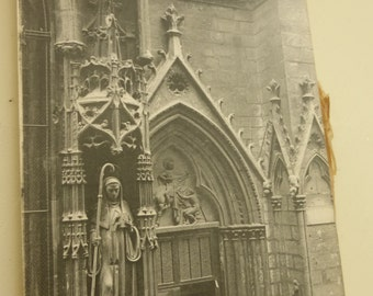 Rescued Antique Post Card Album of Saint Severin in Paris