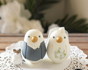 Love Bird Cake Toppers - Medium