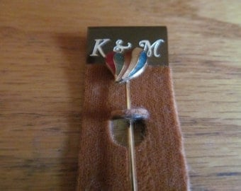 heart colorful stick pin