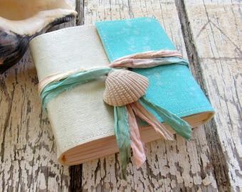Mermaid Journal pocket size - mermaid seashells beach vacation journal by tremundo